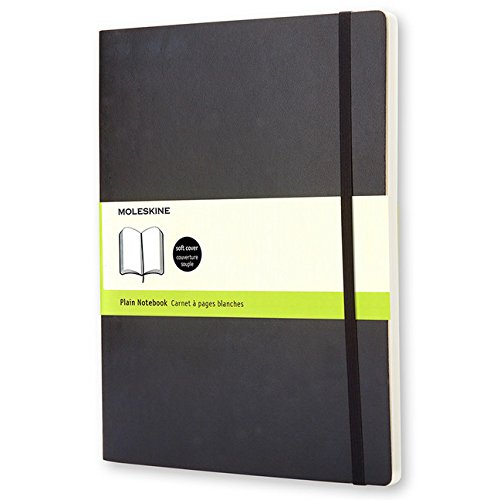 Moleskine Classic Notebook, Extra Large, Plain, Black, Soft Cover