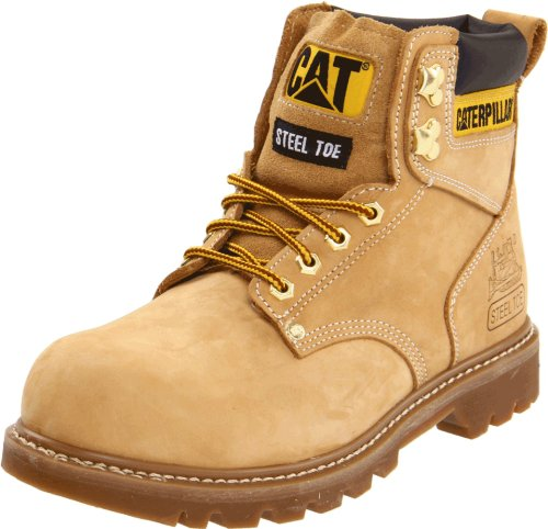 Caterpillar Men's Second Shift Steel Toe Work Boot,Honey,7 M US
