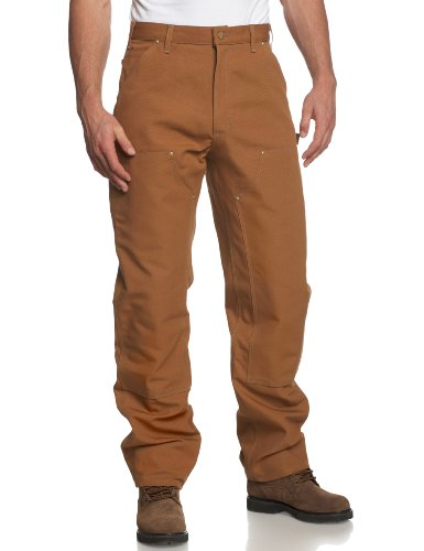 Carhartt Men's Double Front Duck Utility Work Dungaree B01,Carhartt Brown,34 x 34