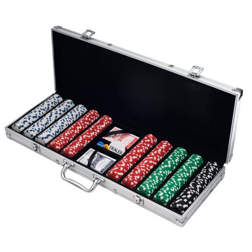 Trademark Poker 500 Dice Style 11.5-Gram Poker Chip Set