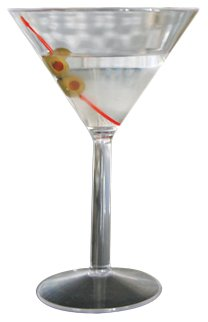 Camco 43901 10 oz Polycarbonate Martini Glass - 2 pack