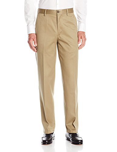 Dockers Men's Classic Fit Signature Khaki Pant - Flat Front D3, Dark Khaki, 34x32