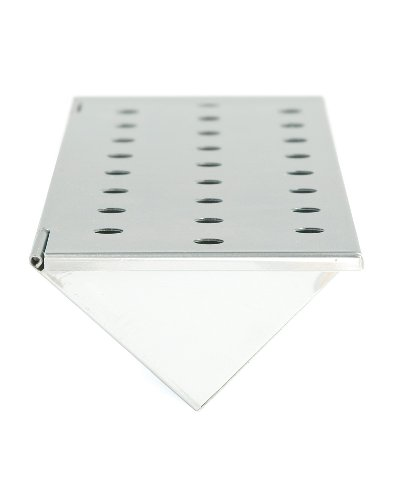 Charcoal Companion Stainless Steel V-Shape Smoker Box For Gas Grills
