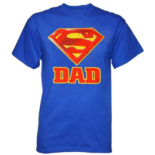 Superman Super Dad Royal Blue Men's T-shirt Tee