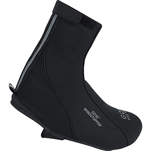 GORE BIKE WEAR Road Wind Stopper Overshoes, Black, Size 6.5-8