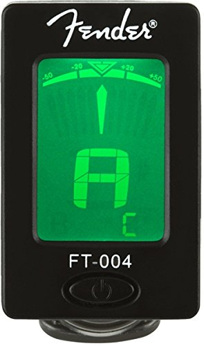 Fender Clip-On Tuner FT-004 for Guitar, Ukulele, Bass, Violin, Mandolin, and Banjo