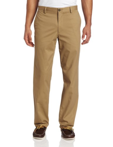 Dockers Men's Easy D2 Straight Fit Flat Front Pant, New British Khaki, 36x32