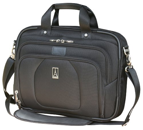 Travelpro Luggage Crew 9 Slim Business Brief, Black, One Size