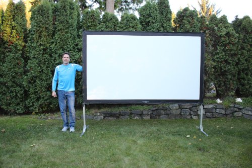 Visual Apex ProjectoScreen120HD Portable Movie Theater Projector Screen 16:9 format