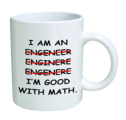 I'm An Engineer Good With Math Coffee Mug - 11 Oz Mug - Nice Motivational And Inspirational Office Gift
