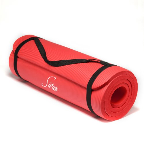 Sivan Health and Fitness NBR Yoga and Pilates Mat