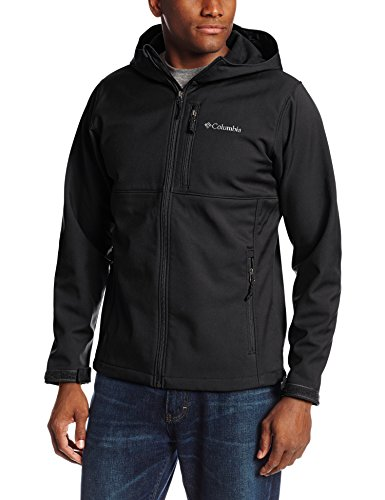 Columbia Men's Ascender Hooded Softshell Jacket, Black, Small
