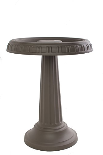 Bloem BB2-60 Grecian Bird Bath with Pedestal, Peppercorn