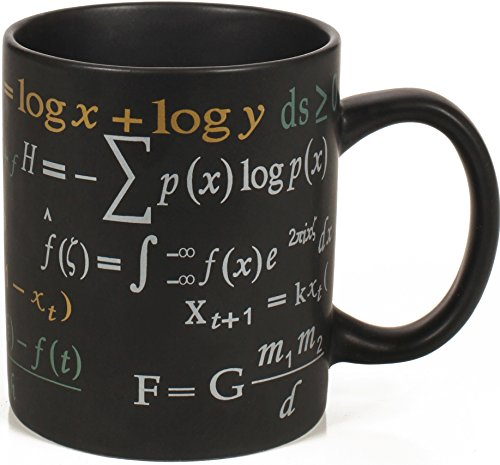 Math Mug - 12 oz. Coffee Mug Featuring Famous Mathematical Formulas