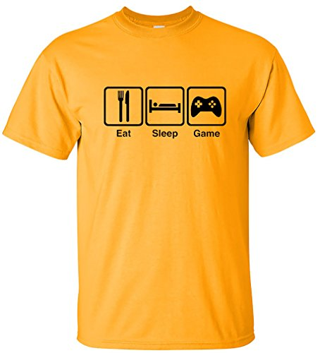 EatSleepTee Men's Eat Sleep Game T-Shirt Gamer Gaming Tee