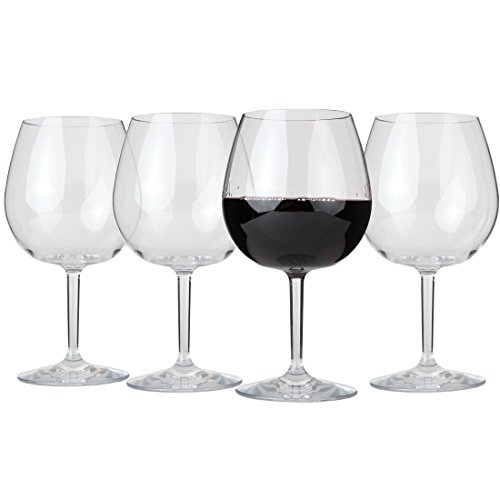 Unbreakable Indoor / Outdoor Pinot Noir Wine Glasses - Set of 4