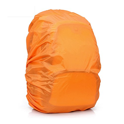 Jepeak 35L Nylon Waterproof Backpack Rain Cover Rucksack Water Resist Cover for Hiking Camping Traveling Outdoor Activities, Orange