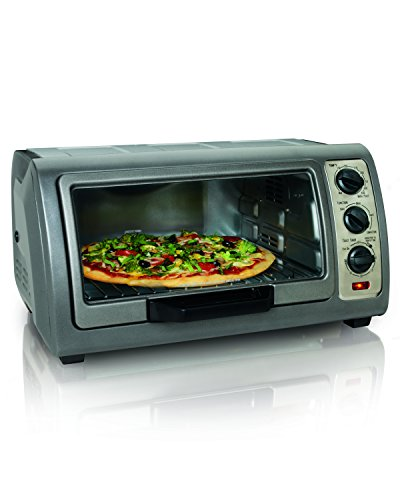 Hamilton Beach Easy Reach Oven with Convection, Silver