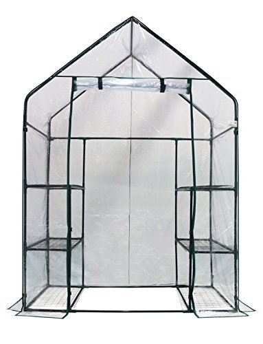 "Homewell Mini Walk-In Greenhouse 3 Tiers 6 Shelves, 56""L x 29""W x 77""H"