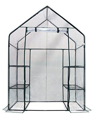 """Homewell Mini Walk-In Greenhouse 3 Tiers 6 Shelves, 56""""L x 29""""W x 77""""H"""
