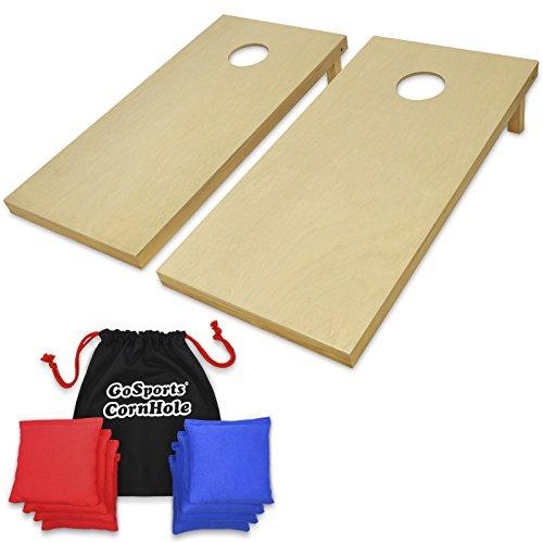 GoSports Solid Wood Premium Cornhole Set