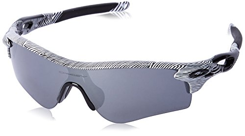 Oakley Men's Radarlock White Fingerprint/Black Iridium Polarized Sunglasses  One Size