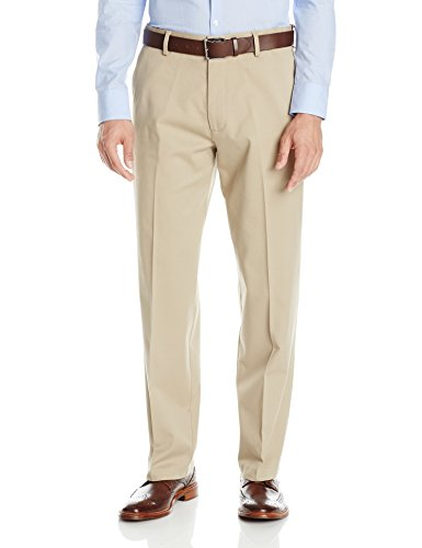 Dockers Men's Comfort Khaki Upgrade Relaxed Fit Flat Front Pant, British Khaki, 40x29
