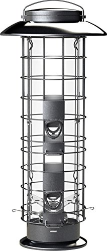 More Birds 106IN X-4 Squirrel-Proof Bird Feeder with the SureFill No Spill Filling System, Four Feeding Ports, 1.5 lb Seed Capacity