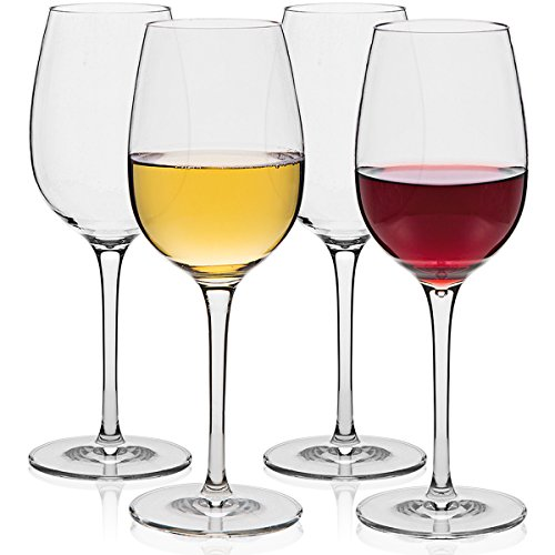 MICHLEY Unbreakable Wine Glasses, 100% Tritan Shatterproof Wine Glasses, BPA-free, Dishwasher-safe 12.5 oz, Set of 4