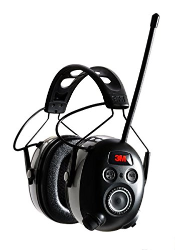 3M WorkTunes Wireless Hearing Protector with Bluetooth Technology and AM/FM Digital Radio