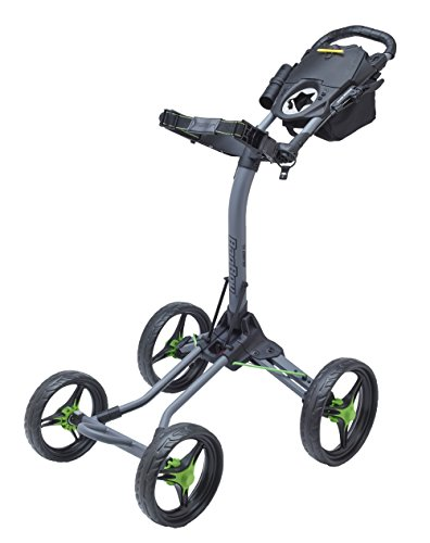 Bag Boy Quad XL Golf Cart, Battleship Gray/Lime