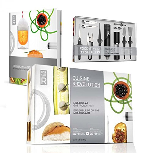 Molecular Gastronomy Kit, Book and Food Styling Tools Set