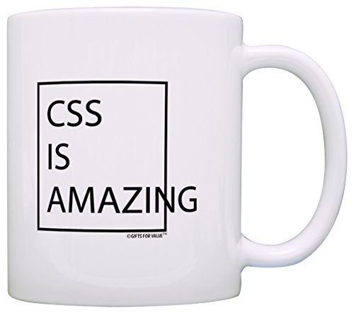 Computer Nerd Gifts CSS is Amazing Office Gifts STEM Gift Coffee Mug Tea Cup White