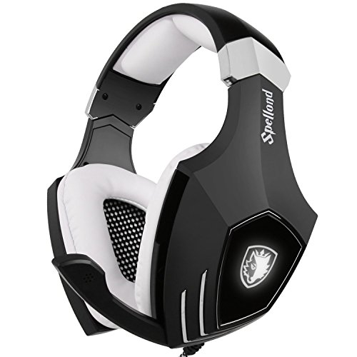 [2016 Newly Updated USB Gaming Headset] SADES A60/OMG Computer Over Ear Stereo Heaphones With Microphone Noise Isolating Volume Control LED Light