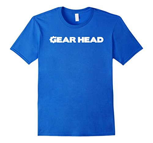 Men's Gear Head T-Shirt Medium Royal Blue