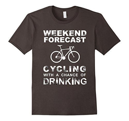 Men's CYCLING BIKING BIKE T-Shirt Funny Cycling & Drinking Tee Medium Asphalt