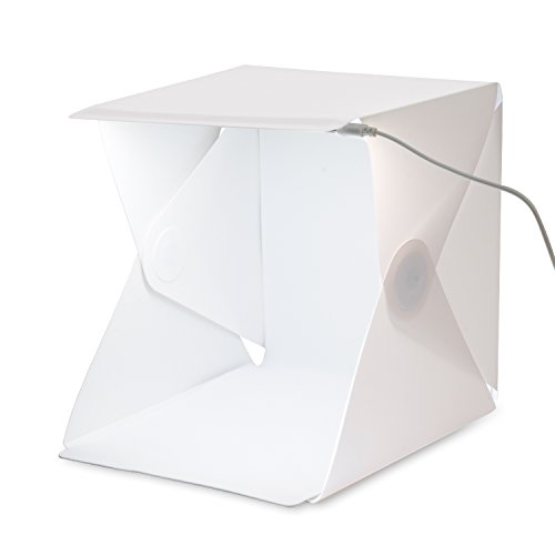 Amzdeal Table Top Folding Photo Studio Shooting Tent White Photograhpy Light Tent Kit  24X22X24 cm