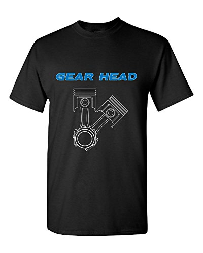 Gear Head Great Gift For Any Car Motor Automotive Fan - Adult Shirt M Black