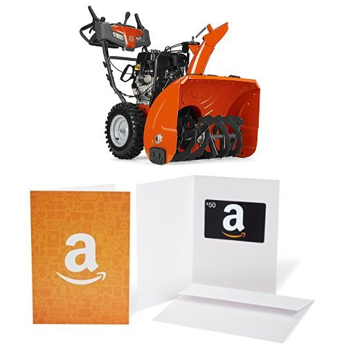Husqvarna ST230P - 30-Inch 291cc Two Stage Electric Start with Power Steering Snowthrower - 961930101 with $50 Gift Card bundle