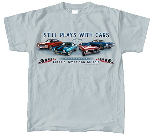Chevy Chevelle, Camaro, Nova & Impala Muscle Car T-Shirt 100% Cotton Preshrunk - Grey