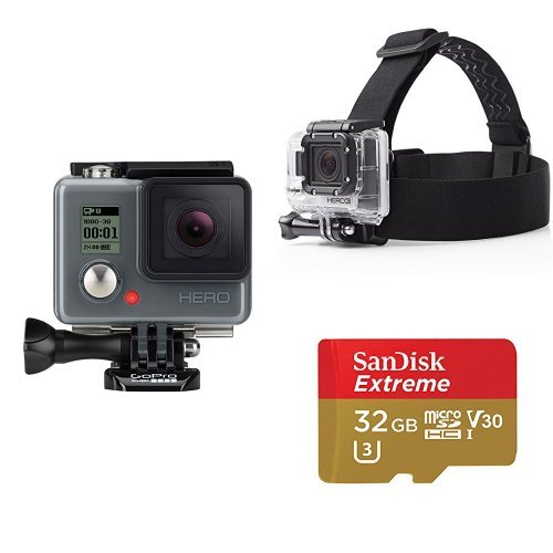 GoPro Hero w/ AmazonBasics Headstrap and SD Card