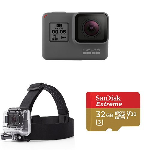 GoPro HERO5 Black w/ Head Strap and Memory Card